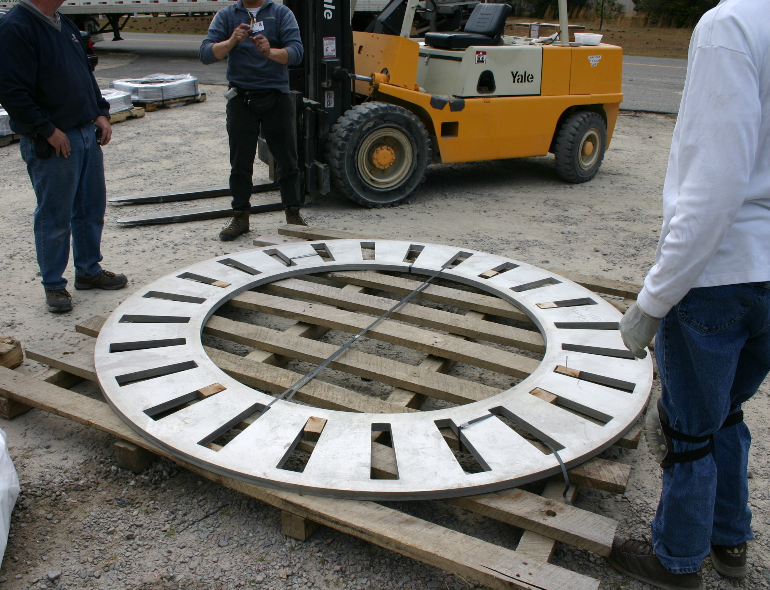 """1"""" Thick - 80"""" Diameter Stainless Steel Part Shown  Ready To Ship"""