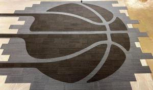Indiana Pacers locker room Interface carpet planks