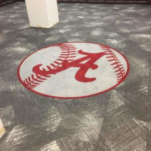 University Alabama Softball Bentley installed