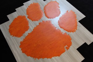 Clemson Paw with planks