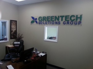 Greentech Sign Installed