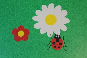 Lady bug & flower