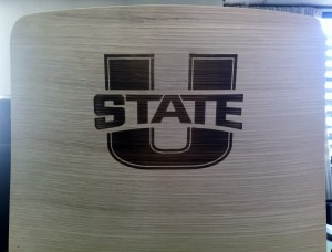 Utah State Lasered Chair Back