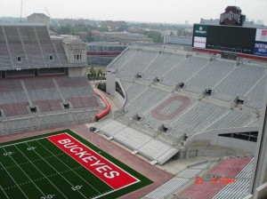 Ohio State Buckeyes end zone