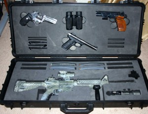 Pelican gun case foam filled