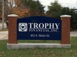 Trophy Financial Completed Sign