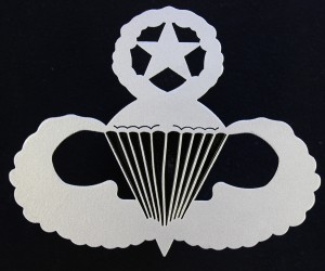 U.S. Army & Air Force Master Parachutist Badge Front