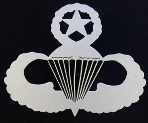 U.S. Army & Air Force Master Parachutist Badge Front