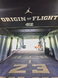 UNC  Football Tunnel - Michael Jordan