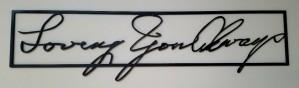 handwriting Sign